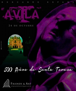 cartel visita de amigos y arte a Ávila