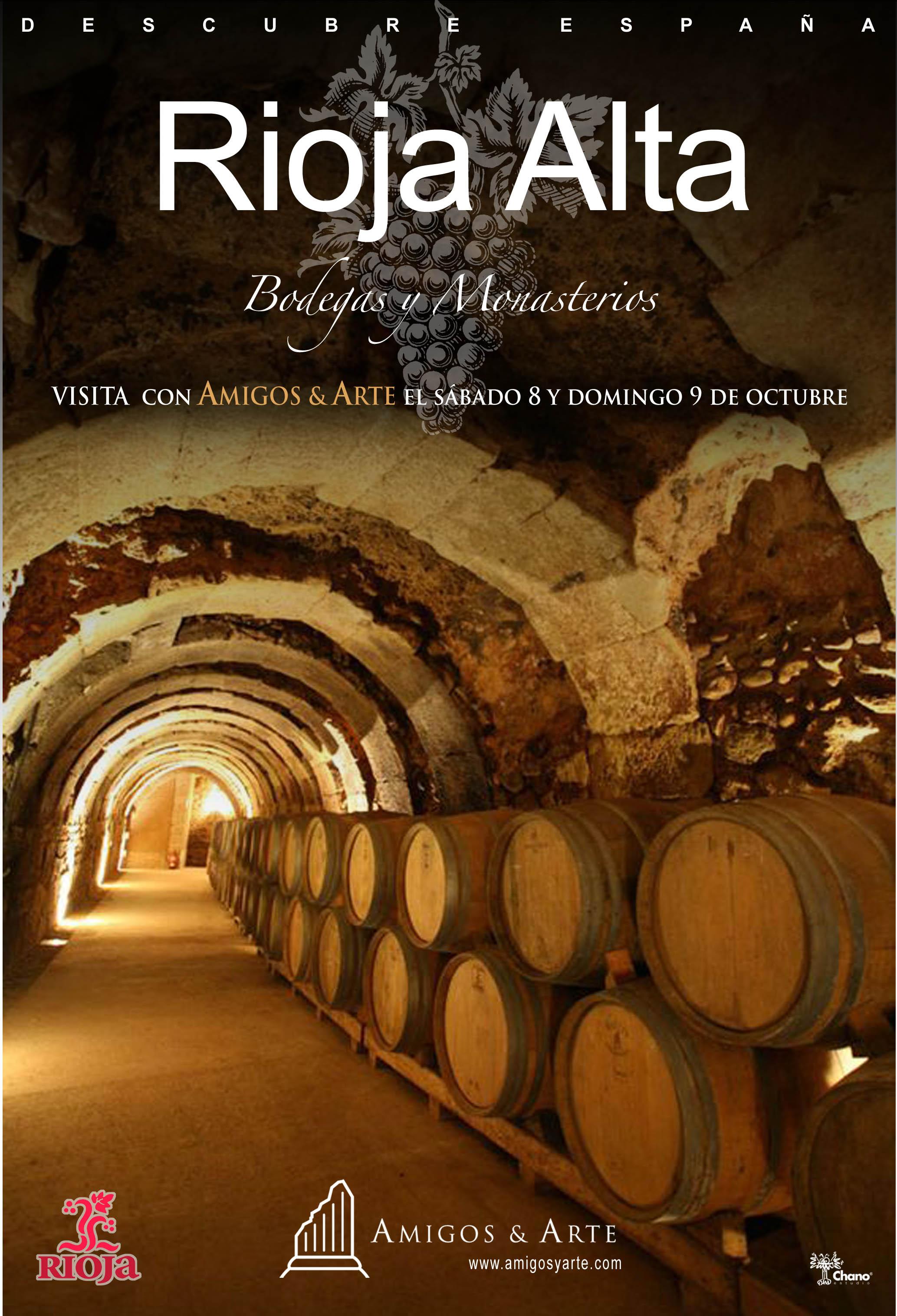 Visita con Amigos & Arte a la Rioja Alta. Conoce sus bodegas y Monasterios. La cuna del castellano.